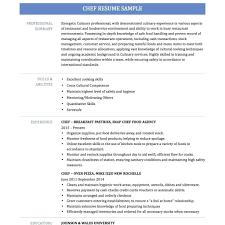Chef Resume Example resume Chef Resume Sample 32
