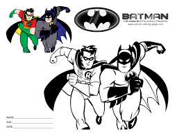 And Batman Coloring Pages