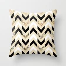 black and cream pillows. Modren Black Black White U0026 Gold Glitter Herringbone Chevron On Nude Cream Throw Pillow Inside Black And Pillows E