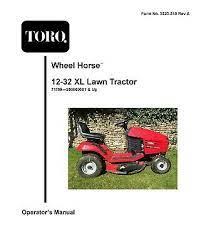 toro 12 32 xl wheel horse garden