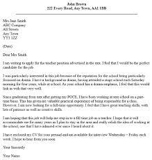 Example Cover Letter For Teaching Position Teacher Job Application Cover Letter Examples Learnist Org