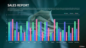 Presentation Charts And Graphs Free Sales Reports Presentation Template Free Powerpoint