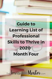 professional skills list list of professional skills to thrive in 2020 guide to learing