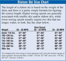 Womens Ski Size Chart Selecting A Waterski West Marine