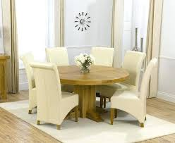 round dining room sets for 6 oak round dining table 6 leather chairs cream black or round dining room sets