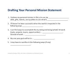 What Are Your Personal And Career Goals Personal Mission Statement For A Resume Career Statement