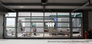 Impressive Insulated Glass Garage Doors Aluminumglassgaragedoorwithmatchingentry To Perfect Design