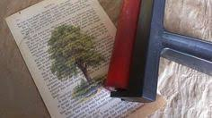 diy book page art magnet with graphics