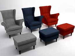 strandmon wing chair 3d model