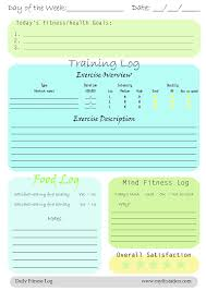 Daily Workout Journal Free Daily Printable Fitness Logs Fitness Planner Workout
