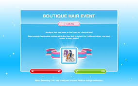 Fashion Design Hobby Sims Freeplay The Sims Freeplay Boutique Hair Event The Girl Who Games