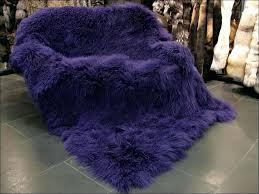 blush mongolian fur rug sheepskin throw 6 x 8 lamb dark purple furniture outstanding blue rugs