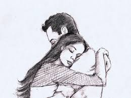 Beautiful Couple Sketch At Paintingvalleycom Explore Collection