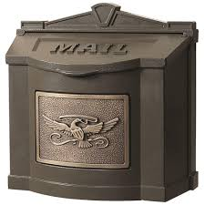 gaines manufacturing eagle accent wall mount mailbox bronze with antique bronze
