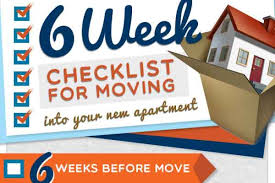 6 Week Checklist Before Moving To Your New Apartment - Zero Time ...