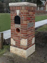 Brick Mailbox Designs Custom Brick Mailbox Remodel Project By Martin Bros