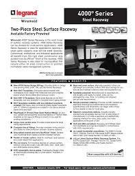 4000 Series Raceway Cut Sheet
