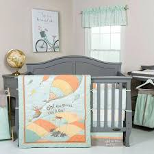 trend lab oh the places go 5 piece baby crib bedding florence set