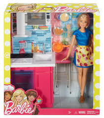 Barbie Doll and Furniture Kitchen Playset Toys