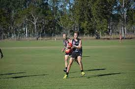 Panthers' Corey Hawke ? took a strong mark against Cunninghame.   Buy  Photos Online   Queensland Times