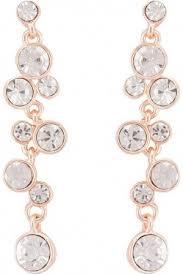 globus stone rose gold chandelier earrings