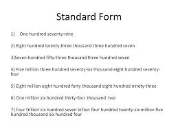 1 billion in standard form expanded form ppt download