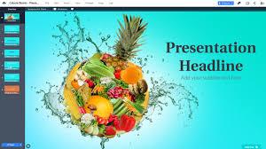 Presentation Foods Calorie Food Bomb Presentation Template Prezibase
