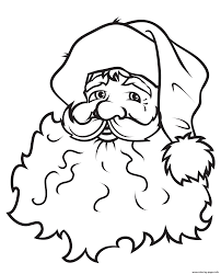 Face Of Santa Claus S2c73 Coloring Pages Printable