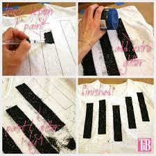 striped glitter t shirt diy painting