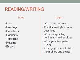 vark learning styles inventory vark what it is it is about  9 reading writing