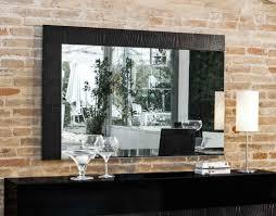 ancona modern black buffet mirror