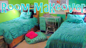 Makeover Bedroom Twin Girls Bedroom Makeover On A Budget Before After Youtube