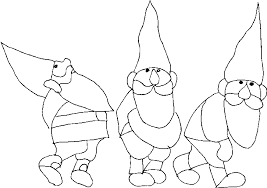 Small Picture Gnomes coloring pages