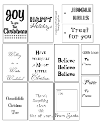 Black And White Printable Christmas Labels Festival Collections