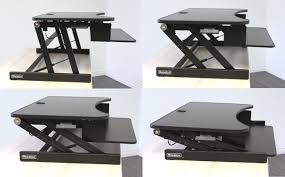 picnic office design. Comfortable Rocelco Height Adjustable Standing Desk Black Finish With Keyboard Tray For Interesting Office Design Picnic