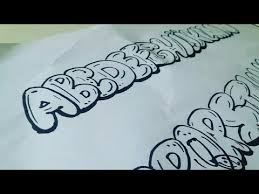 how to draw graffiti bubble letters a z