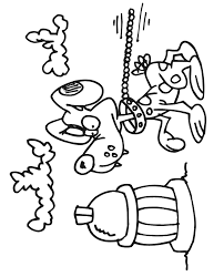 Small Picture Dog Coloring Page Dog On Leash At Fire Hydrant Clip Art Library