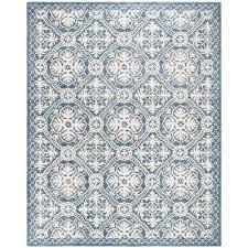micro loop blue ivory 8 ft x 10 ft area rug