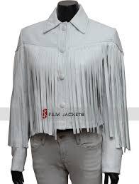 saloane peterson white fringe leather jacket