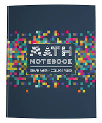 Math Notebook Graph Paper College Ruled Colorful Pixels