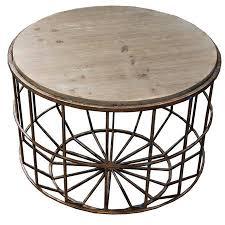 tempo travertine top round coffee table