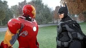 get quotations batman vs iron man epic superheroes battle batman iron man fanboy