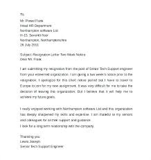 Heartfelt Resignation Letter Mesmerizing Example Of Resign Letter 48 Weeks Resignation Letter Example Resign