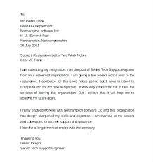 Heartfelt Resignation Letter Mesmerizing Example Of Resign Letter 48 Weeks Resignation Letter Example Resign