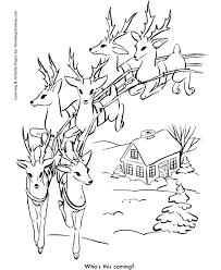 Small Picture Santas Reindeer Coloring Pages Santas Reindeer in Flight