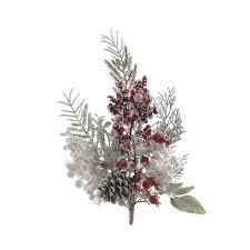 <b>Хвойное украшение</b> Новогодняя ветка с ягодами 8x15x50 см ...
