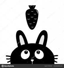 黒ウサギとニンジン ストックベクター Worldofvector 160737822
