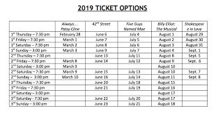 Purchase Season Tickets 2019 Opera House Theatre Company
