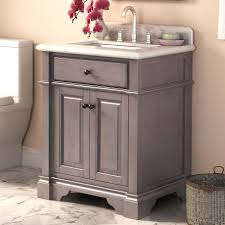 Rustic Bathroom Vanities And Sinks Abel 28 Inch Rustic Single Sink Bathroom Vanity Marble Top