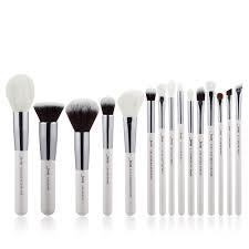 uk jessup best makeup brushes set powder cheek eyeshadow eyeliner 15pcs silver